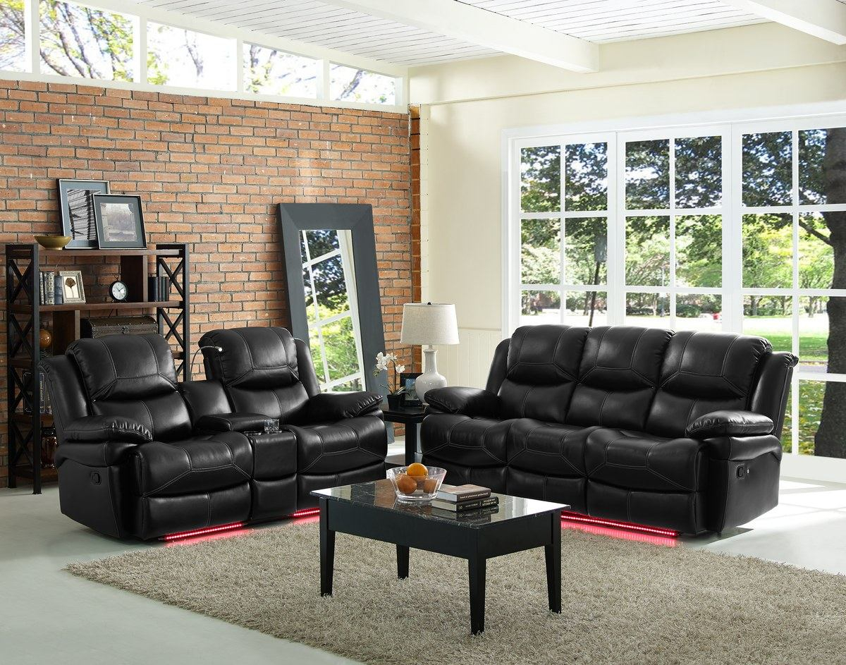 New Classic Flynn 2 Piece Reclining Living Room Set In Premier Black within 13 Awesome Designs of How to Improve Power Reclining Living Room Set