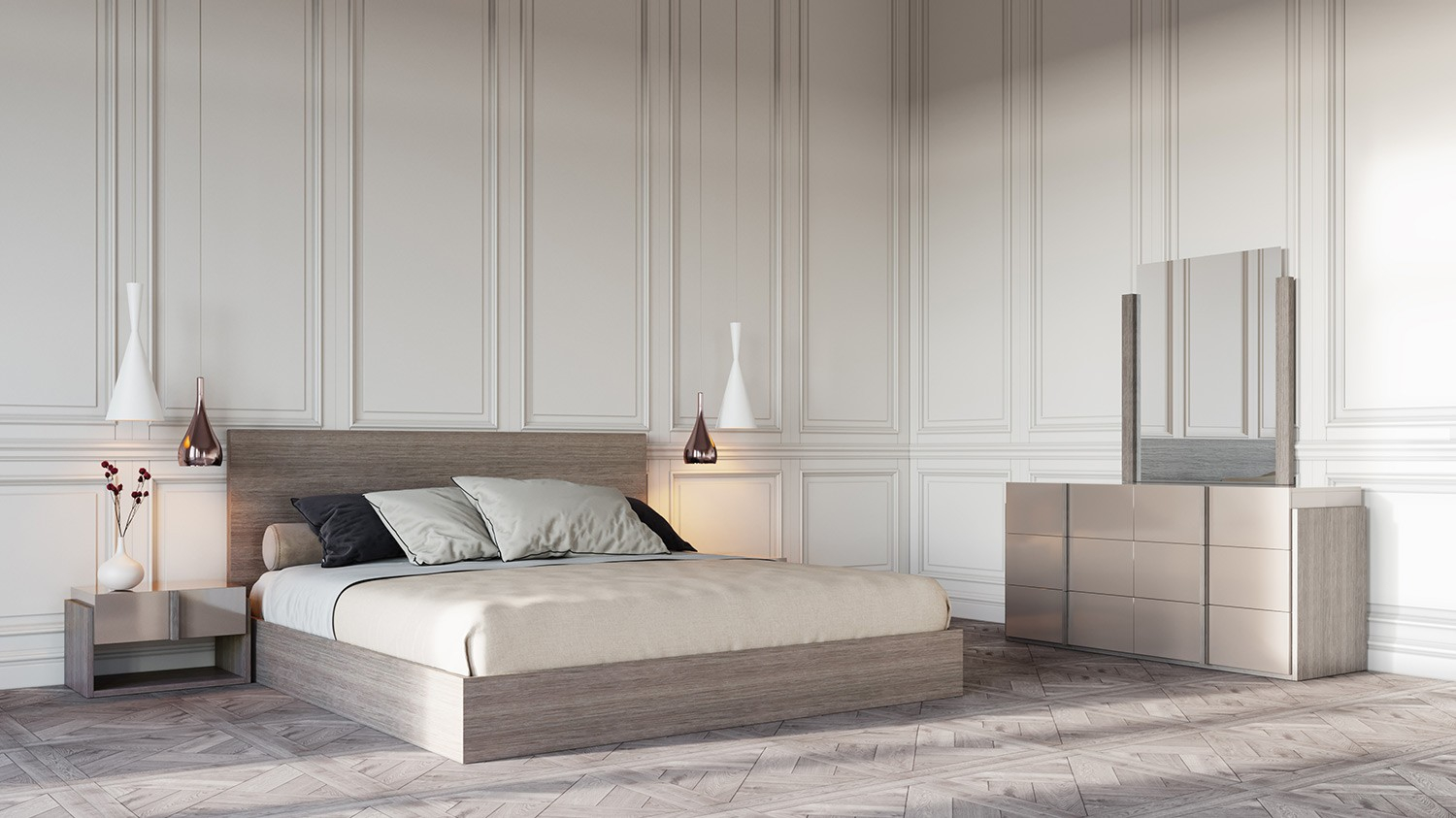 Nova Domus Marcela Italian Modern Bedroom Set with regard to Italian Modern Bedroom Sets