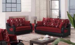 Pittsburgh Fabricvinylwood Storage Living Room Set pertaining to 14 Smart Designs of How to Build Red And Black Living Room Set