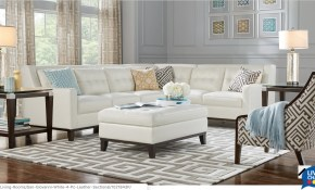 Rooms To Go San Giovanni White 4pc Leather Sectional in 11 Clever Ideas How to Improve Rooms To Go Living Room Set