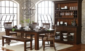 Schleiger Rustic Dining Room Set within Rustic Living Room Sets