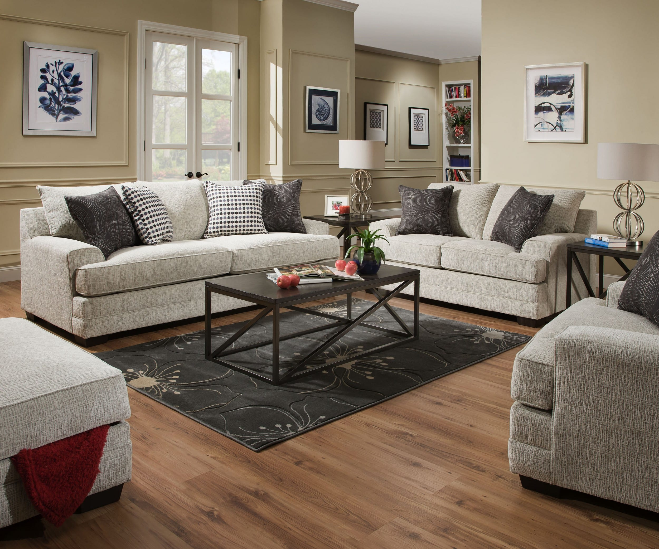 Simmons Upholstery 6548br 03 Dillon Driftwood 6548br 02 Dillon Driftwood 6548br 01 Dillon Driftwood for 12 Awesome Concepts of How to Improve Living Room Set 3 Piece