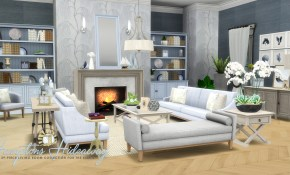 Simsational Designs Hamptons Hideaway Living Room Set For Ts4 within 11 Awesome Initiatives of How to Improve How Much Is A Living Room Set