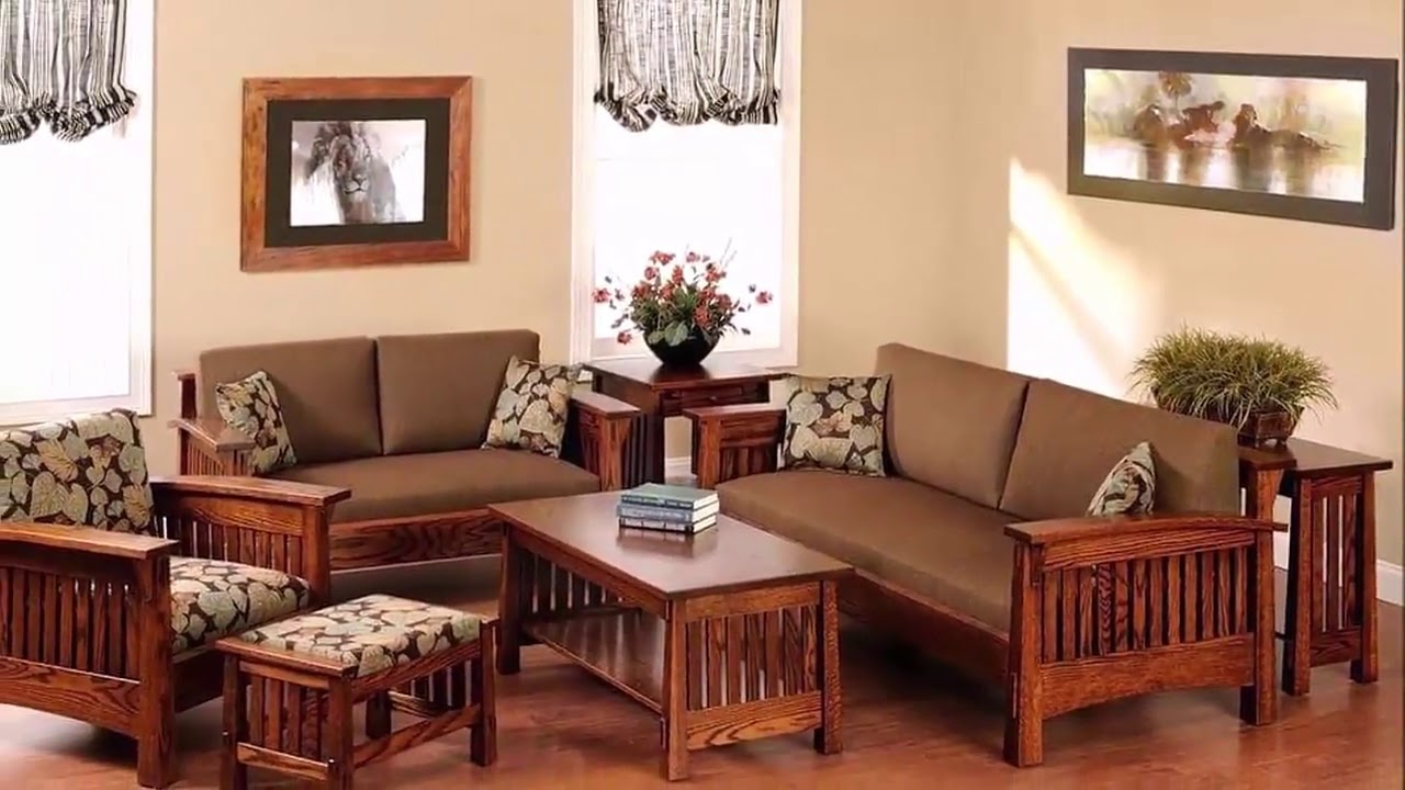Sofa Set Wooden For Living Room Designs Ideas 2019 Bestmedia Tv in Wood Living Room Set