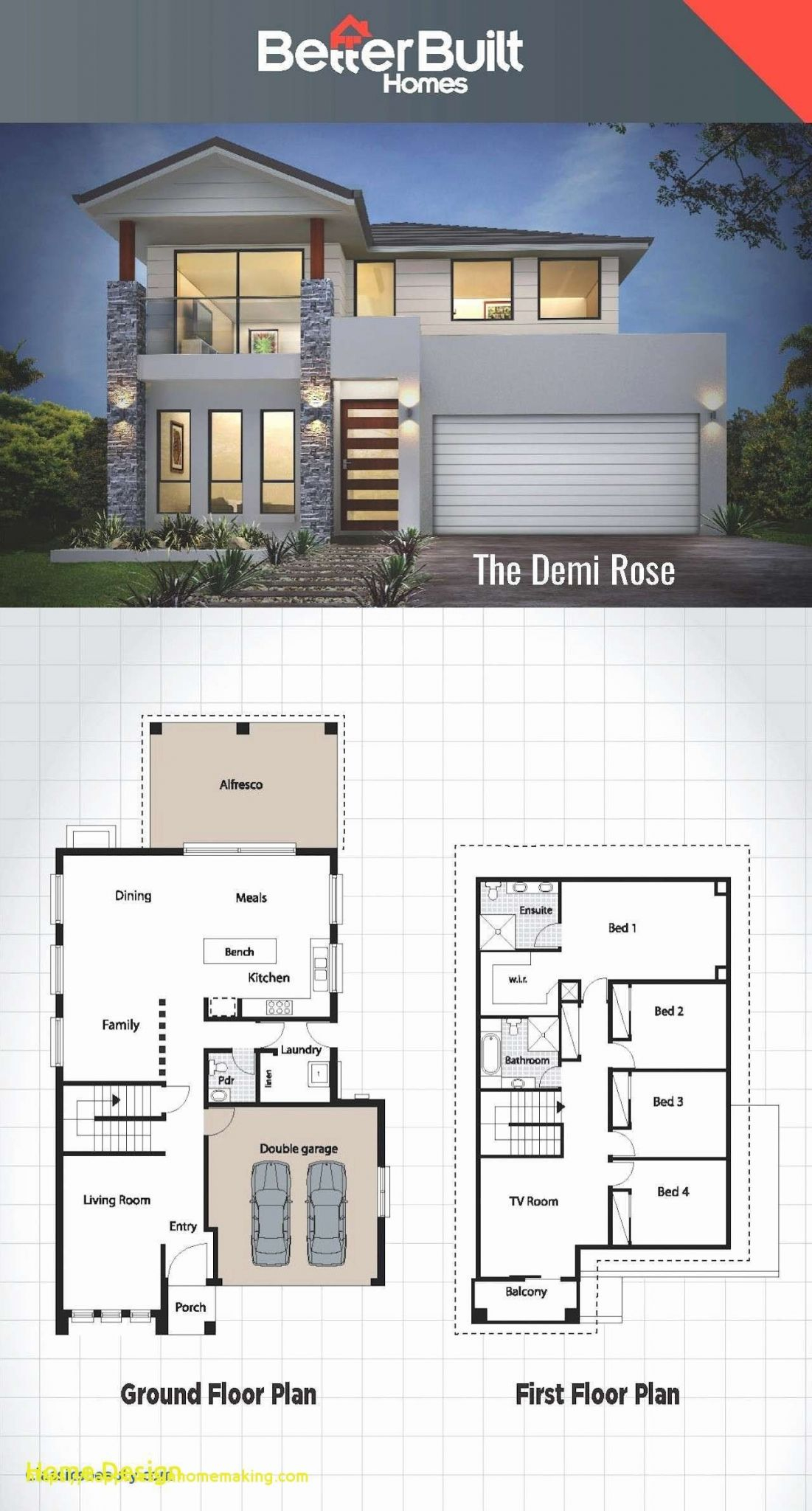 Todays House Hold Low Budget Modern House Plan pertaining to 15 Genius Ideas How to Upgrade 3 Bedroom Modern House Design
