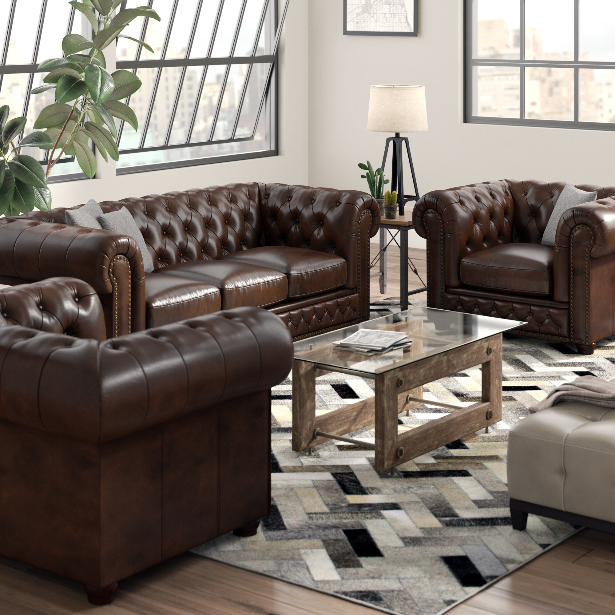 Worcester Leather 3 Piece Living Room Set inside 15 Awesome Ways How to Makeover Cheap 3 Piece Living Room Set