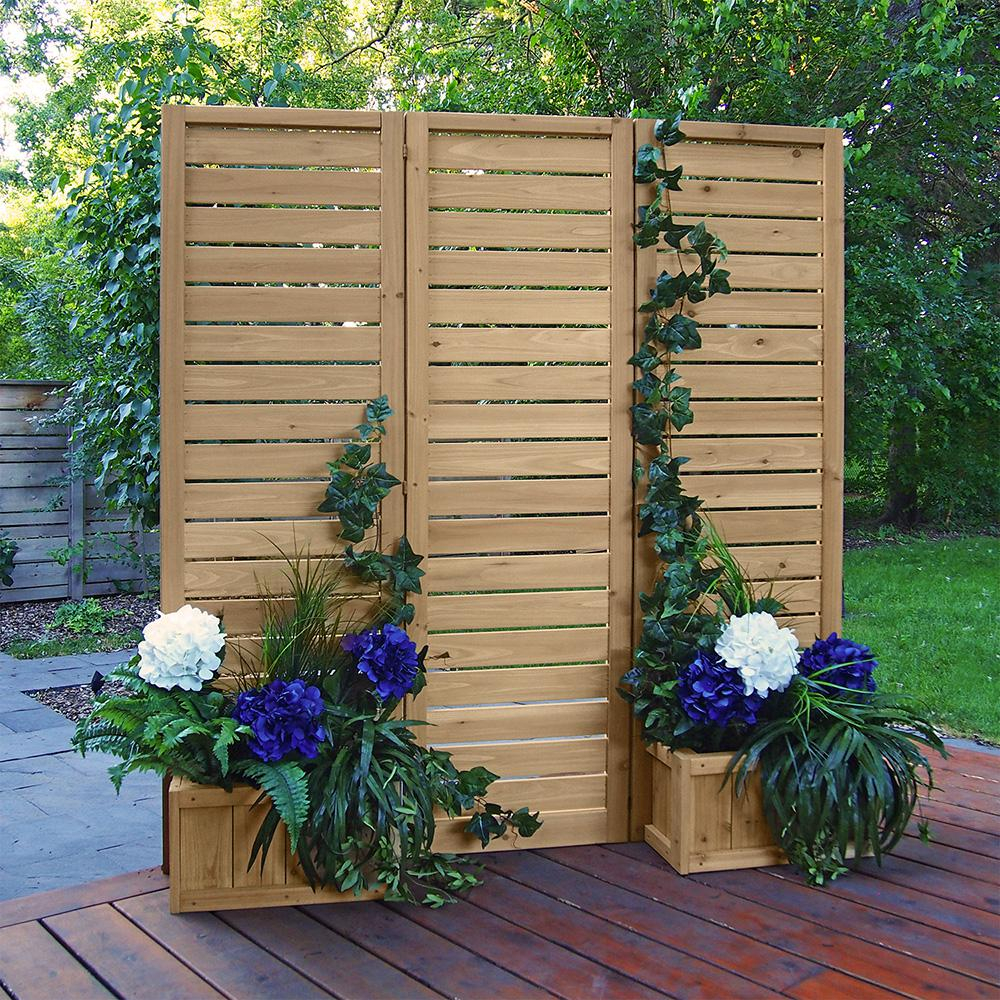 Yardistry 5 X 5 Wood Privacy Screen in Privacy Screen Ideas For Backyard