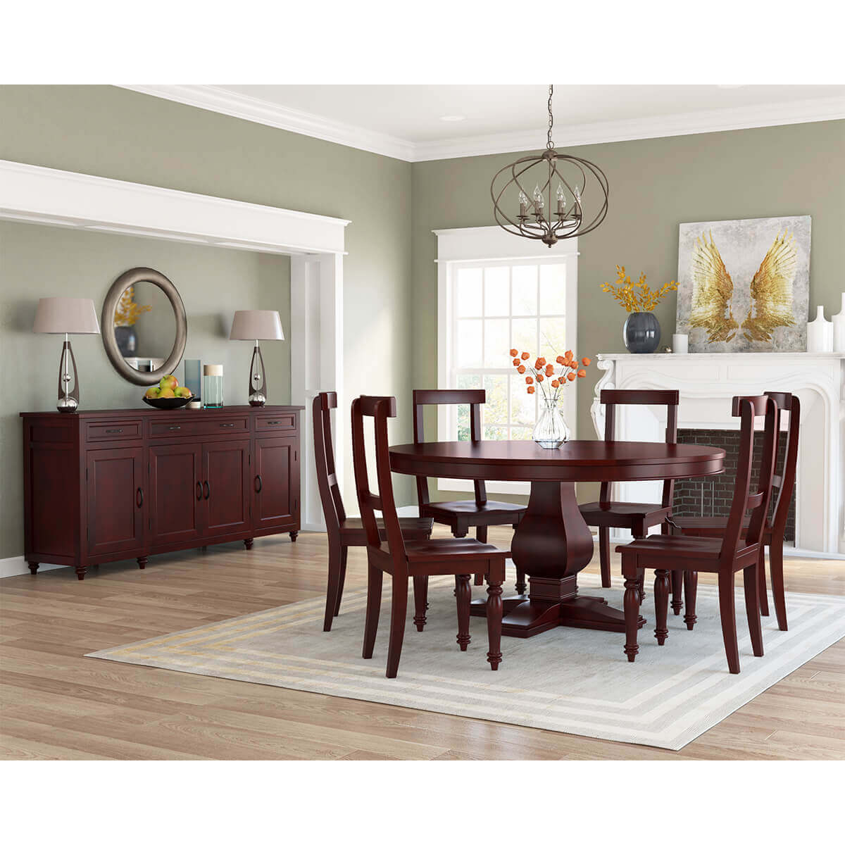 Arenzville Solid Mahogany Wood 8 Piece Dining Room Set pertaining to 15 Clever Ways How to Build 8 Piece Living Room Set