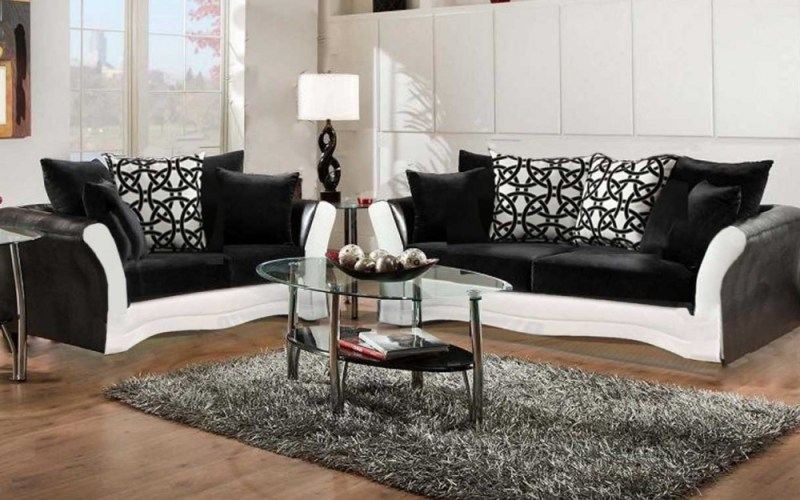 Black And White Sofa And Love Living Room Set within Buy Living Room Sets