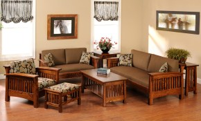 Country Mission Set Amish Furniture Designed within Mission Living Room Set