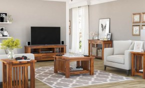Jeddito Mission Rustic Solid Wood 5 Piece Living Room Set for Mission Living Room Set