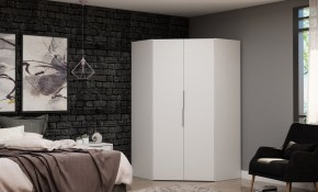Mulberry 20 Modern Corner Wardrobe Closet With 2 Hanging Rods inside Modern Bedroom Closets