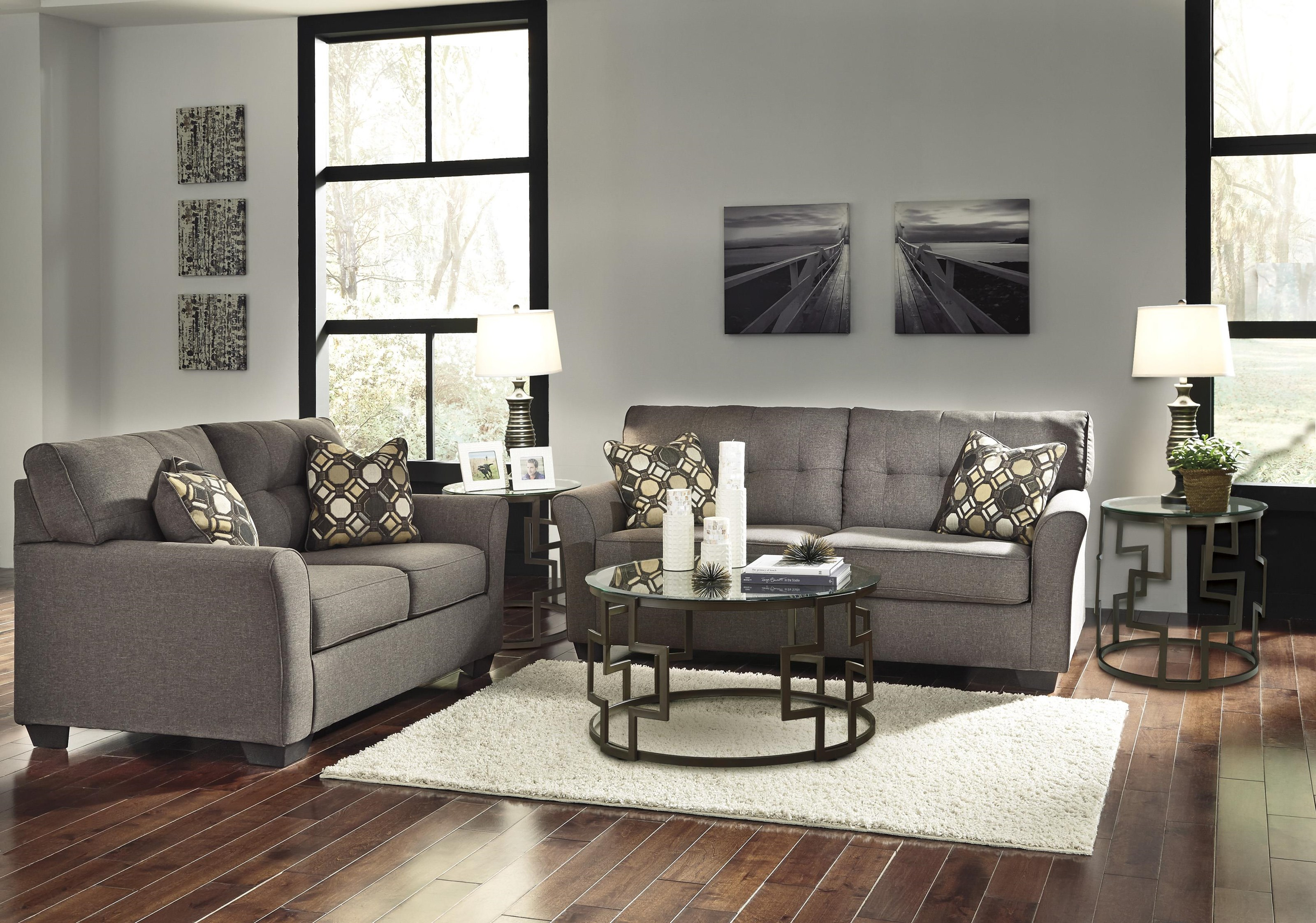 Tibbee 8 Piece Living Room Set Ashley Signature Design At Dunk Bright Furniture inside 8 Piece Living Room Set