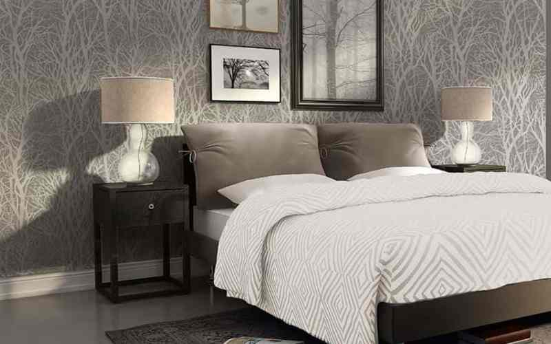 10 Easy Wallpaper Designs For Bedroom 48 With Additional Interior Design For Home Remodeling for Wallpaper Designs For Bedroom