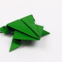 Origami Jumping Frog Diagram Net Of Triangular Prism Folding Instructions - Tavin's