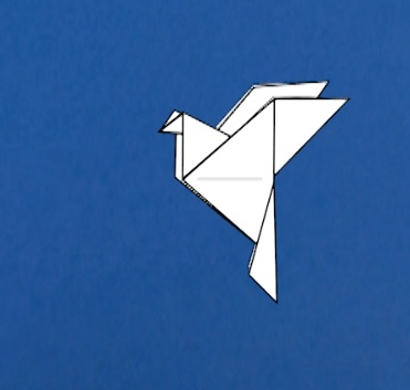 origami dove diagram hunter fans peace instructions - tavin's