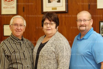 TCHI chairman Dale Leis (left) with two of the new board members Marj Brooks and Rob Gribble. Absent from the photo is new board member Sharon Walkom.