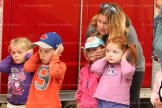 Pre-school students cover their ears while the siren blares during a visit to the Tavistock firehall by Tavistock Pre-School on Tuesday, May 17th.