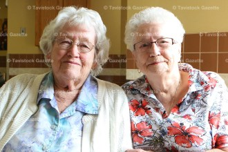 Ruth Wettlaufer (left) and Beatrice Yungblut will celebrate their 100th birthdays only five days apart on July 2 and July 7 respectively. Both are residents at peopleCare, Tavistock.