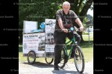 "George McNeish, 64, of London is peddling his bicycle and custom made trailer across the province to promote his book ""The Alternative."" It's an historic novel that looks at slavery and how it led to civil war. George is an advocate of world peace and is past chair of the Fugitive Slave Chapel Preservation Project. His first stop on the journey was to his brother, Tom, in Sebastopol, then to his 90-year-old father in Guelph. For details go to: thealternative.9li.ca"