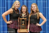 Open Group Stepdance Champions - All Reel Drive - from the left, Miranda DeWetering, Katie Paradis, and Katie Luckhardt.