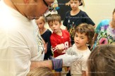 Lee Winegardner uses dry ice to wow children at the Mad Science program held last Wednesday. August 10th at the Tavistock Library. About 25 children attended.
