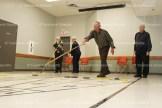 Audrey Bender and Marlene Schwartzentruber (left) and Harold Lange and Lloyd Ropp enjoy a game.