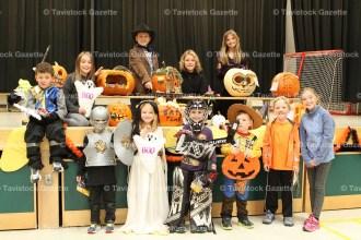 Pumpkin contest winners at Tavistock Public School.