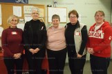 The Tavistock Ladies' team won the Tavistock & District Ladies Bonspiel on Monday, January 16, 2017. Shown above, left to right, are: skip - Sharyn Campbell; Vice - Tory Zehr; lead: Chris Wiffen (1st game); second: Peggy Green (2nd game); and second (1st game) and lead (2nd game) Jane Danen. Teams from Paris, Simcoe and St. Marys participated in the Canada's 150th themed bonspiel. Thank yous go out to the many sponsors and members who helped to make the day a success.