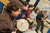 Drum Circle at Sprucedale School.