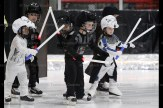 Charging ahead in the Star Wars sequence at the Skating Carnival Sunday afternoon are, from the left, Garrett Bell, Desmond Thistle, Jeremy Caron, Beckham Skillings, Isaac Brenneman, and Isaac McIntyre (behind).