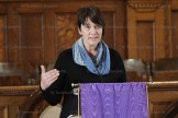 Pastor Tanya Dyck Steinmann delivers the message at the Lenten Luncheon on Thursday, March 9, 2017.