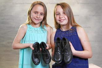 Stepdancing sisters Quinn (left) and Beau Witzel were recent winners at the Mitchell Kiwanis Festival in the Stepdancing Competition.
