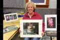 Horticultural Society May guest speaker Bronwyn Moody displays some of her photographs.