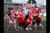 Oxford MPP Ernie Hardeman poses with members of Team Roz during the Relay for Life in Woodstock on June 9, 2017.
