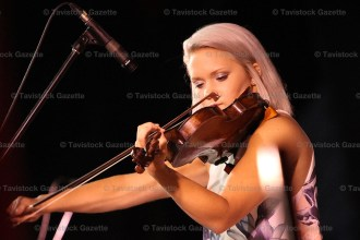 Celine Murray of Dorchester was second in the open fiddle class.