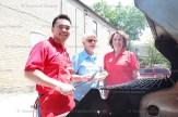Scotiabank's Jimmy Phimsavanh, Hickson Trail Committee member Sharon Skevington and Sharon Walkom of Scotiabank.