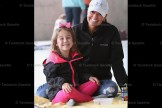 Kim Wettlaufer and her daughter, Chloe, enjoy the primary picnic in the pavilion.