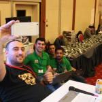Cenk Çorbacıoğlu from the Organization and his Iranian friends taking a lovely selfie.