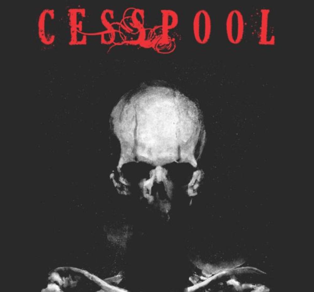 stylish skeleton with cesspool title