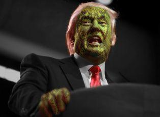Reptillian Donald Trump