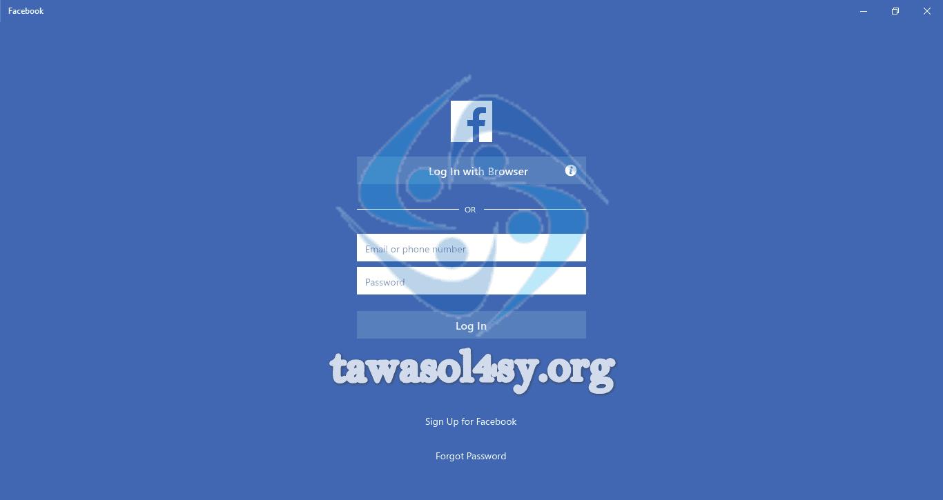 تنزيل فيس بوك على الكمبيوتر 2019 تحميل مباشر تواصل لأجل سوريا