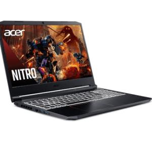 Máy tính xách tay Acer Nitro 5 AN515-55-5518, Core i5-10300H(2.50 GHz,8MB), 8GBRAM, 512GBSSD, GeForce GTX 1650 4G, 15.6FHDIPS144Hz, RGB4zKB, Webcam, Wlan ax+BT, 57Wh, Win 10 Home, Đen(Obsidian Black), 1Y WTY_NH.Q7RSV.004