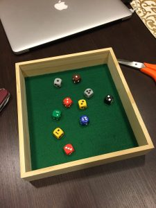 8x9 inch wooden dice tray