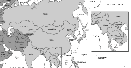 Asia Map - including Russia