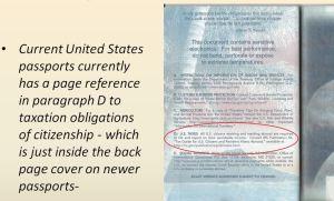 Passport Inside Back Page - USC Taxation Reference