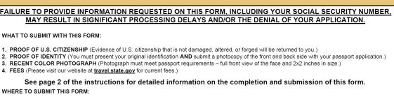 application for US passport p2