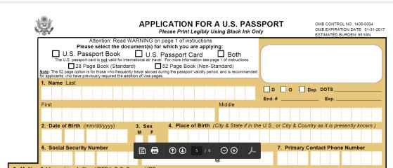 application for US passport p7