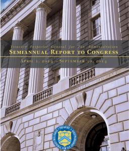 TIGTA Semi Annual Report - Cover