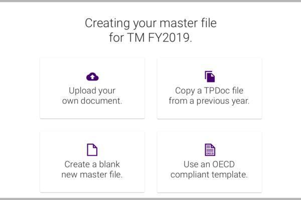 Master file creation options